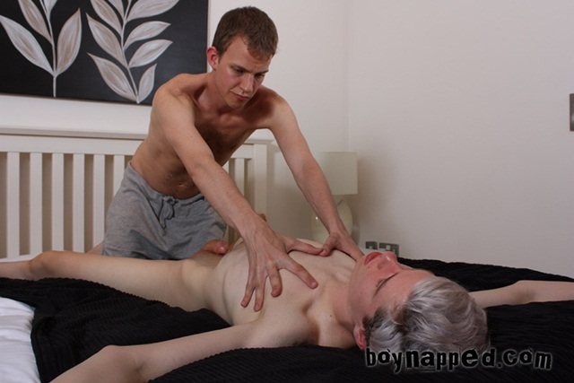 BoyNapped Full Body Massage with Gay Happy Ending Calvin Croft and Leo James